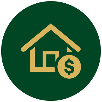 House with money symbol icon